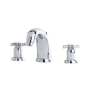 3831 Perrin & Rowe Three Hole Basin Mixer Tap Crosshead